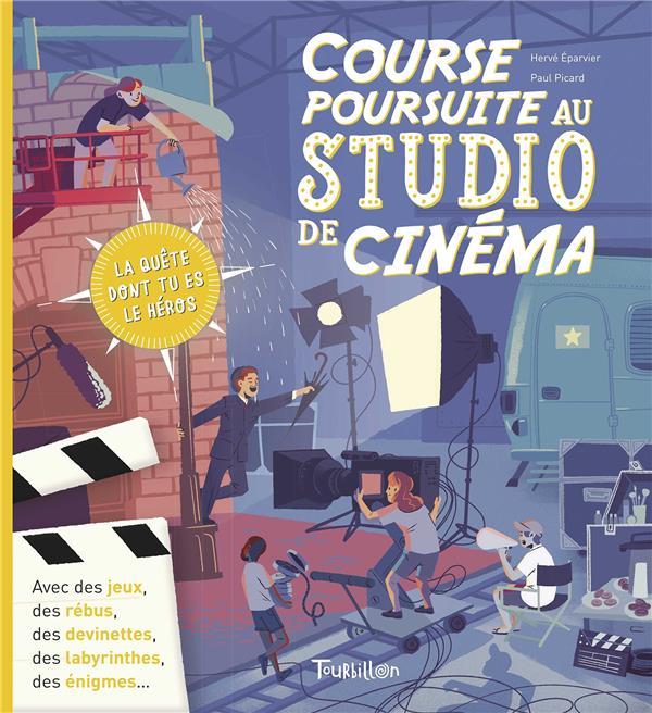 COURSE POURSUITE AU STUDIO DE CINEMA  TOURBILLON