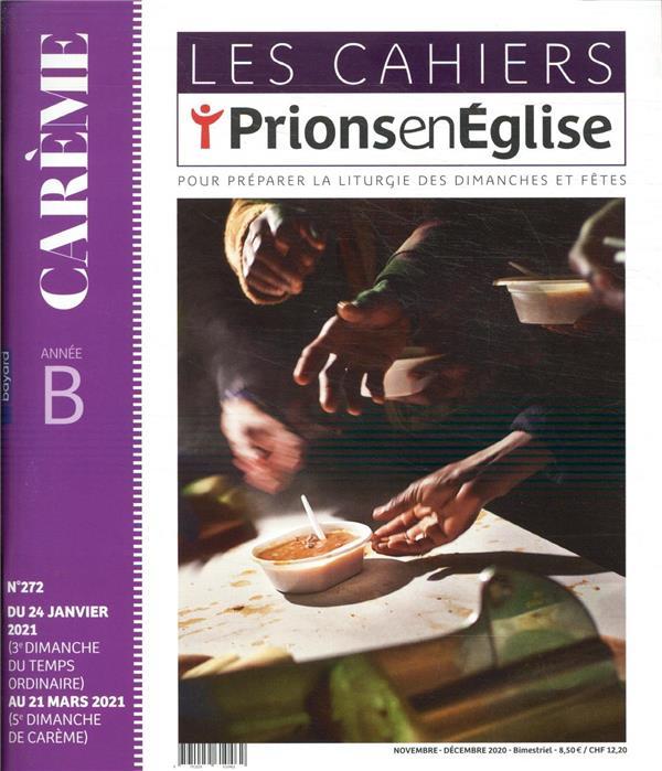 LES CAHIERS PRIONS EN EGLISE N.272  -  NOVEMBRE 2020