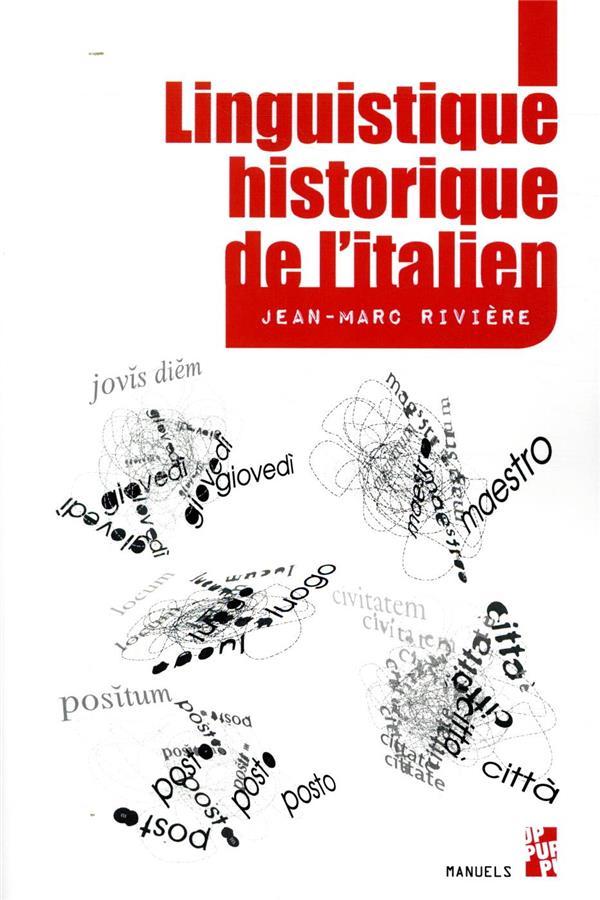 LINGUISTIQUE HISTORIQUE DE L'ITALIEN