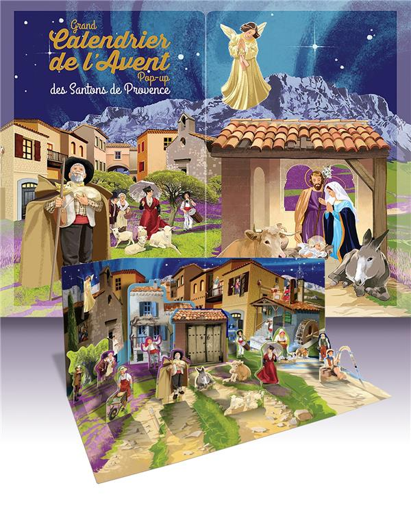 GRAND CALENDRIER DE L'AVENT POP-UP DES SANTONS DE PROVENCE