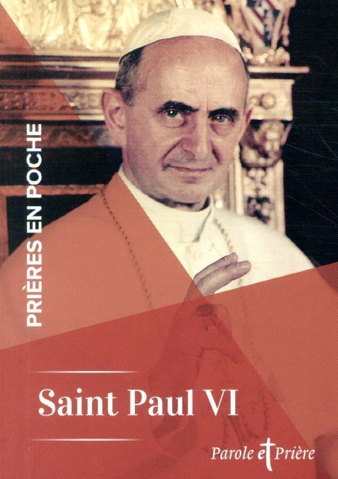 PRIERES EN POCHE  -  SAINT PAUL VI