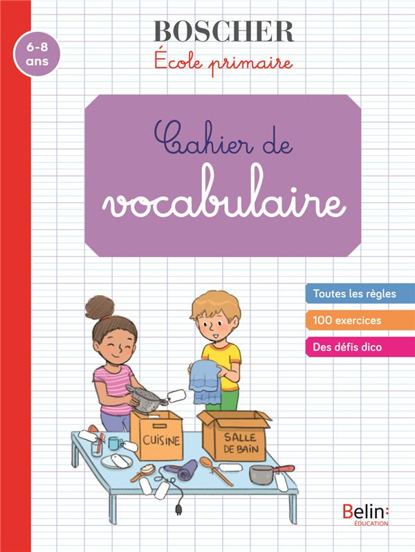 METHODE BOSCHER  -  CAHIER DE VOCABULAIRE