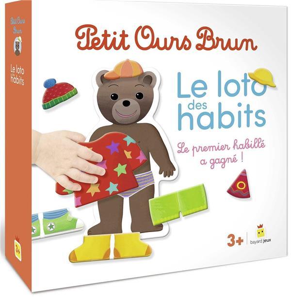 PETIT OURS BRUN  -  LE LOTO DES HABITS  -  LE PREMIER HABILLE A GAGNE !