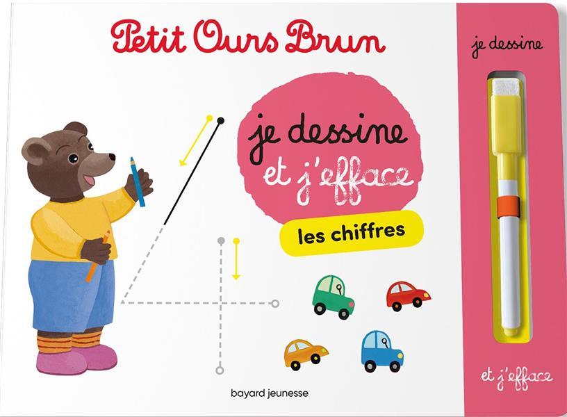 PETIT OURS BRUN  -  JE DESSINE ET J'EFFACE LES CHIFFRES
