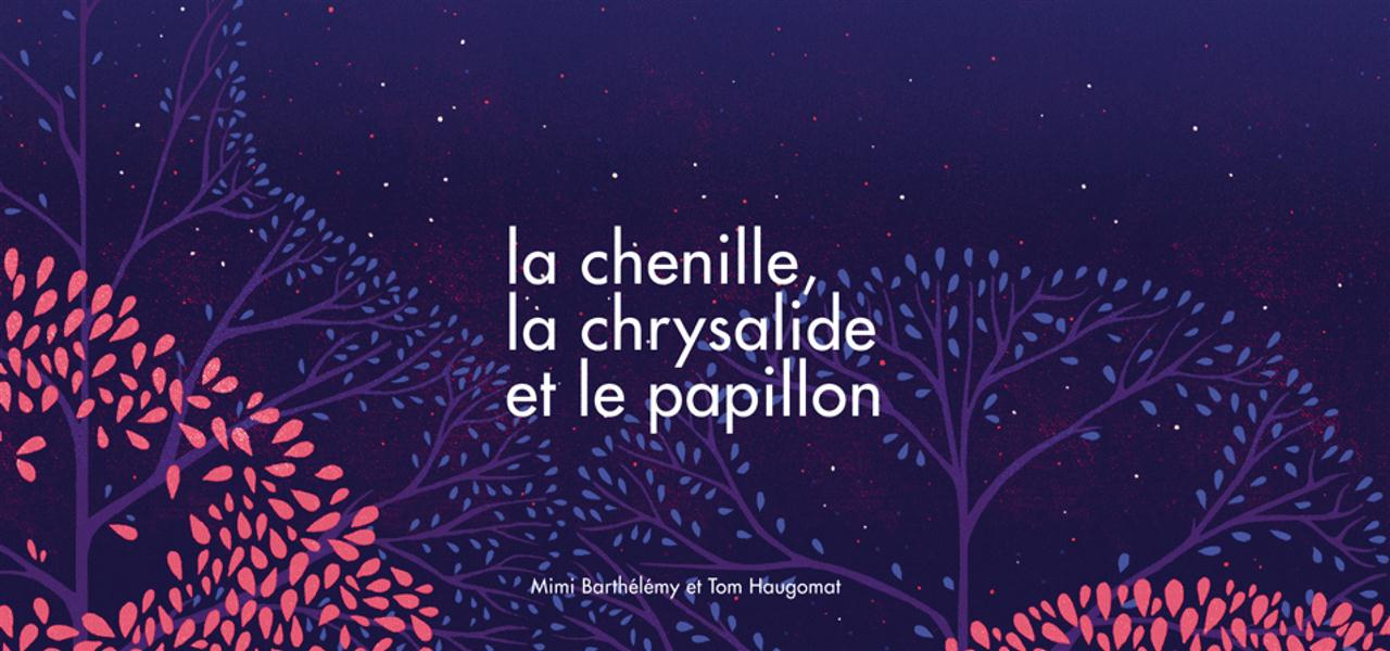 LA CHENILLE, LA CHRYSALIDE ET LE PAPILLON