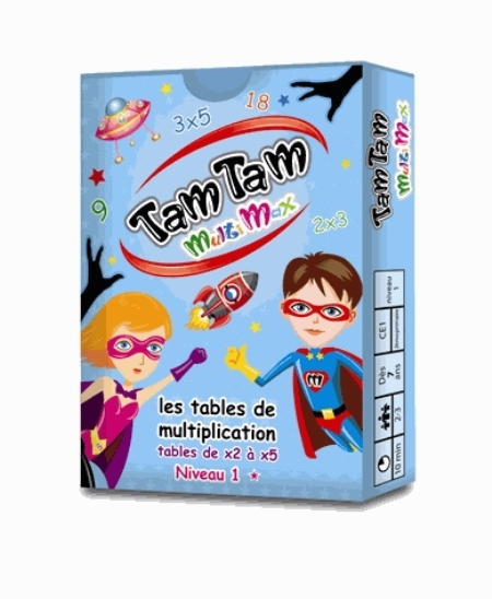 TAM TAM -  MULTIMAX 1 - LES TABLES DE MULTIPLICATION DE X2 A X5 Costantini Frédérique Tam tam