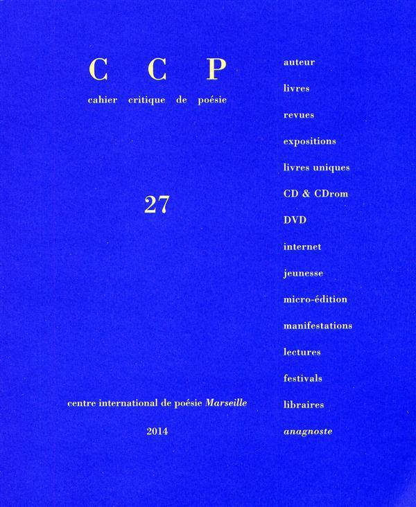 CCP 27 (CAHIER CRITIQUE DE POESIE)