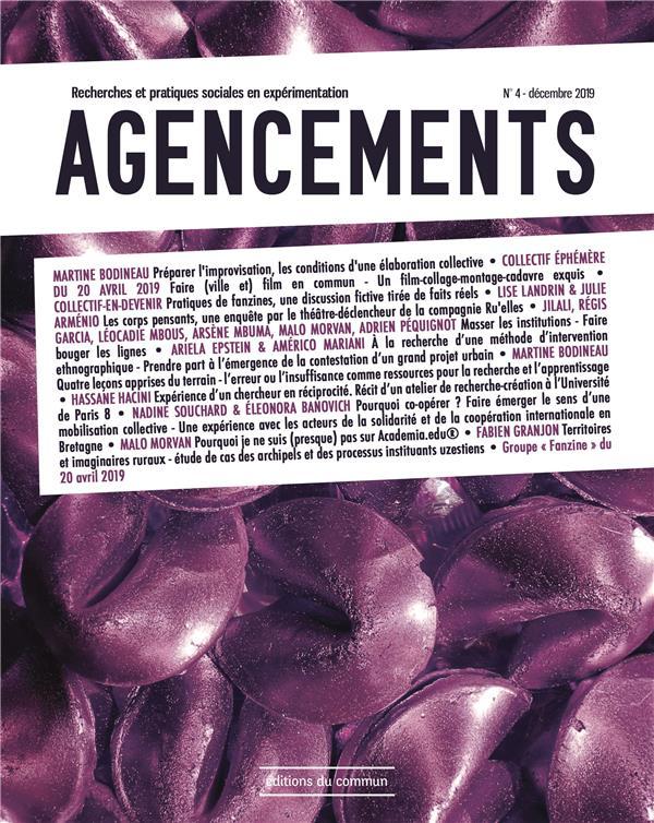 AGENCEMENTS     RECHERCHES ET PRATIQUES SOCIALES EN EXPERIMENTATION N.4