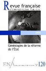 GENEALOGIES DE LA REFORME DE L'ETAT