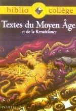 BIBLIOCOLLEGE - TEXTES DU MOYEN AGE - ELEVE