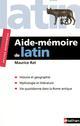 RAT AIDE MEMOIRE DE LATIN RAT MAURICE NATHAN
