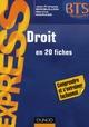 DROIT BTS - EN 20 FICHES
