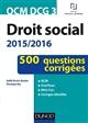 QCM DCG 3 - DROIT SOCIAL 20152016 - 3E ED.