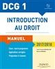 DCG 1  -  INTRODUCTION AU DROIT  -  MANUEL ET APPLICATIONS, QCM (EDITION 20172018)