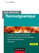 AIDE-MEMOIRE - THERMODYNAMIQUE - 4E ED