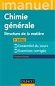 MINI MANUEL DE CHIMIE GENERALE - 3E ED. - STRUCTURE DE LA MATIERE
