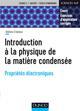INTRODUCTION A LA PHYSIQUE DE LA MATIERE CONDENSEE - PROPRIETES ELECTRONIQUES