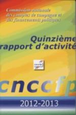 Quinzième rapport d'activité 2012-2013