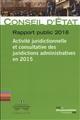 ACTIVITE JURIDICTIONNELLE ET CONSULTATIVE DES JURIDICTIONS ADMINISTRATIVES
