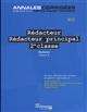 REDACTEUR, REDACTEUR PRINCIPAL 2E CLASSE  -  CONCOURS EXTERNE, INTERNE, 3E CONCOURS, CATEGORIE B (EDITION 2017)