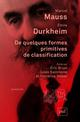 De quelques formes primitives de classification Durkheim Emile PUF