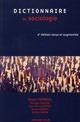 DICTIONNAIRE DE SOCIOLOGIE FERREOL+CAUCHE+DUPRE NATHAN