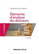 ELEMENTS D'ANALYSE DU DISCOURS - 3E ED. SARFATI GEORGES ELIA NATHAN