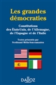 LES GRANDES DEMOCRATIES. CONSTITUTIONS DES E.U., DE L'ALL., DE L'ESP. ET DE L'ITALIE REIMPRESSION -