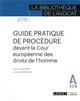 GUIDE PRATIQUE DE PROCEDURE DEVANT LA COUR EUROPEENNE DES DROITS DE L HOMME