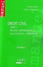 DROIT CIVIL T2. DROIT NOTARIAL :REGIMES MATRIMONIAUX - SUCCESSIONS - LIBERALITES.25