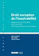 DROIT EUROPEEN DE L'INSOLVABILITE