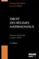 DROIT DES REGIMES MATRIMONIAUX - 5EME EDITION