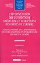 L INTERPRETATION DES CONVENTIONS AMERICAINE ET EUROPEENNE DES DROITS DE L HOMME