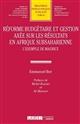 REFORME BUDGETAIRE ET GESTION AXEE SUR LES RESULTATS EN AFRIQUE SUBSAHARIENNE