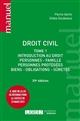 DROIT CIVIL - TOME 1 - INTRODUCTION AU DROIT, PERSONNES, FAMILLE, PERSONNES PROTEGES, BIENS, OBLIGAT
