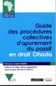 GUIDE DES PROCEDURES COLLECTIVES D APUREMENT DU PASSIF OHADA
