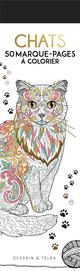 CHATS  -  50 MARQUE-PAGES A COLORIER