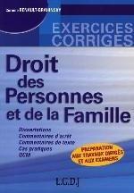 DROIT DES PERSONNES ET DE LA F