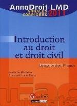 ANNADROIT 2011. INTRODUCTION AU DROIT CIVIL, 12EME EDITION