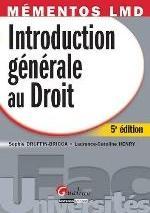 MEMENTOS LMD-INTRODUCTION GENERALE AU DROIT,5EME EDITION