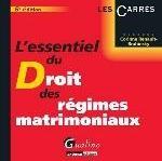 ESSENTIEL DU DROIT DES REGIMES MATRIMONIAUX, 6EME EDITION (L')
