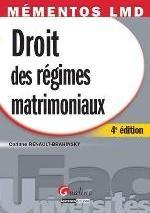MEMENTOS LMD-DROIT DES REGIMES MATRIMONIAUX,4EME EDITION