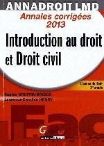 ANNA DROIT 2013- INTRODUCTION AU DROIT ET DROIT CIVIL,14EME EDITION