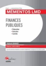 FINANCES PUBLIQUES  2013-2014  MEMENTOS LMD