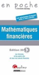 MATHEMATIQUES FINANCIERES  2013  EN POCHE