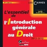 ESSENTIEL DE L'INTRODUCTION GENERALE AU DRO