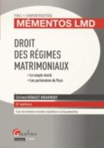 DROIT DES REGIMES MATRIMONIAUX   5ED