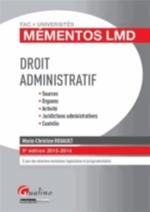 DROIT ADMINISTRATIF   9ED  MEMENTOS LMD