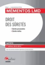 DROIT DES SURETES  7ED  2013/2014  MEMENTOS