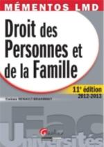 DROIT DES PERSONNES ET DE LA FAMILLE  12ED